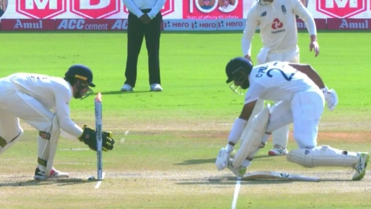 Pujara run out today: Watch Ben Foakes dismisses Cheteshwar Pujara as his bat gets stuck into the pitch