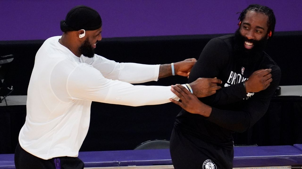 'Stop it': James Harden gets all the plaudits from Nets' Kevin Durant for his smooth move against LeBron James' Lakers
