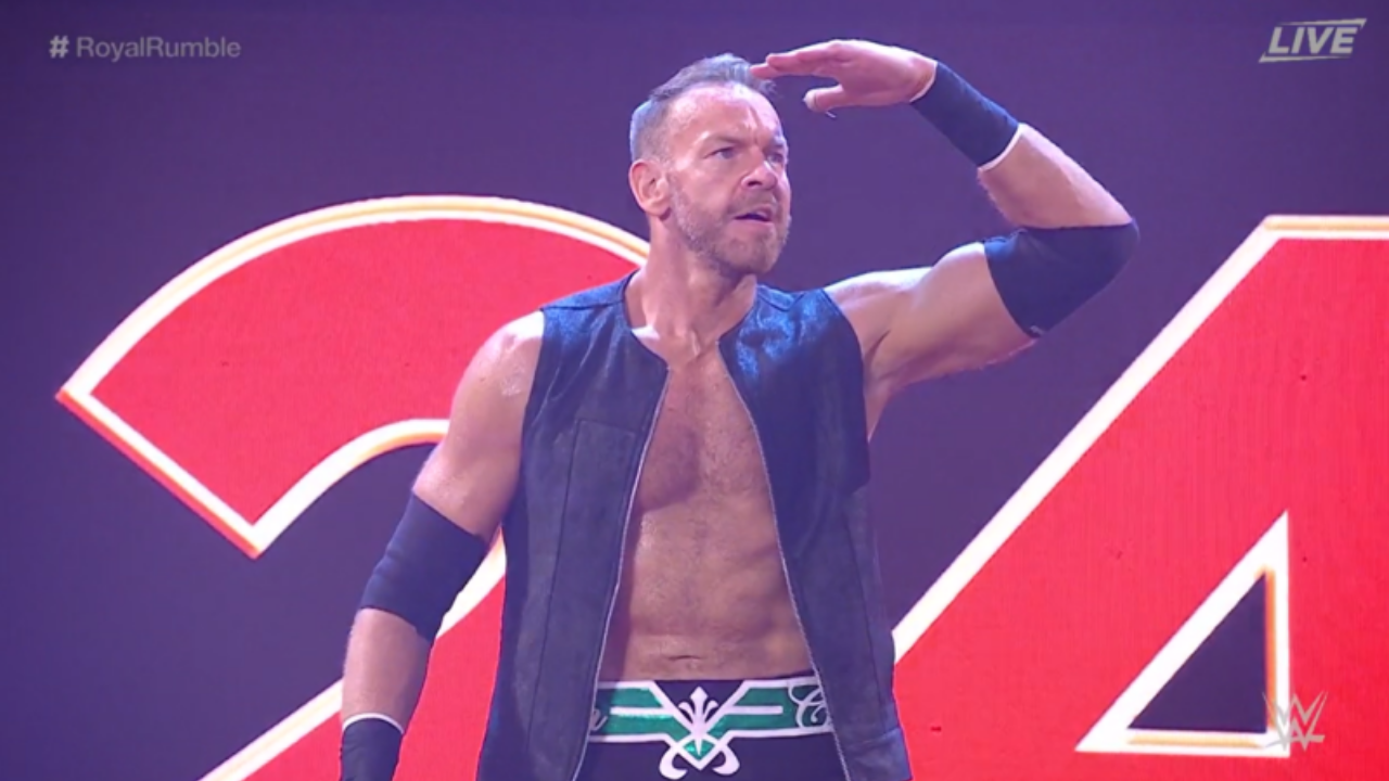 Christian takes to a WWE ring for the first time since 2014 at Royal Rumble 2021