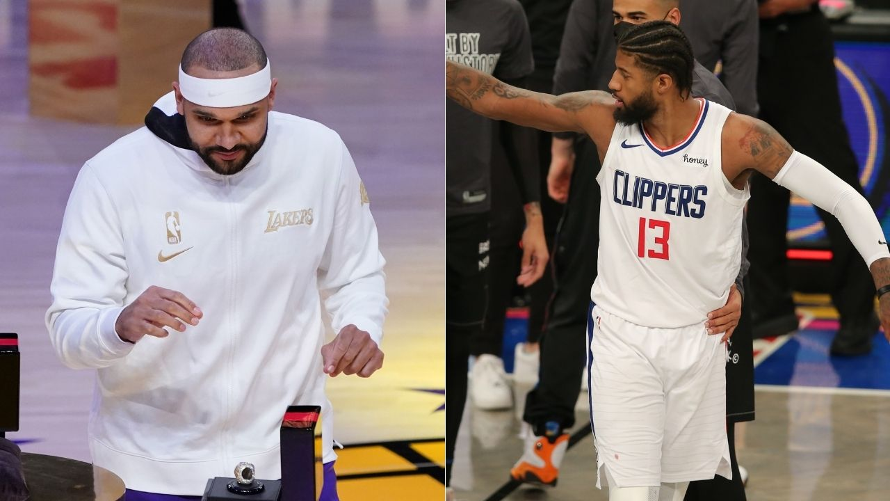 """""""Paul George shouldn't be comparing himself to LeBron James"""": Lakers' Jared Dudley takes some huge swipes at Clippers star in new book 'Inside the NBA Bubble'"""