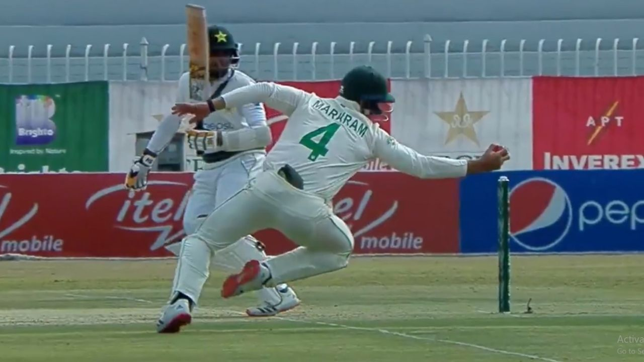 Aiden Markram catch vs Pakistan: South African batsman grabs magnificent catch at short-leg to dismiss Abid Ali