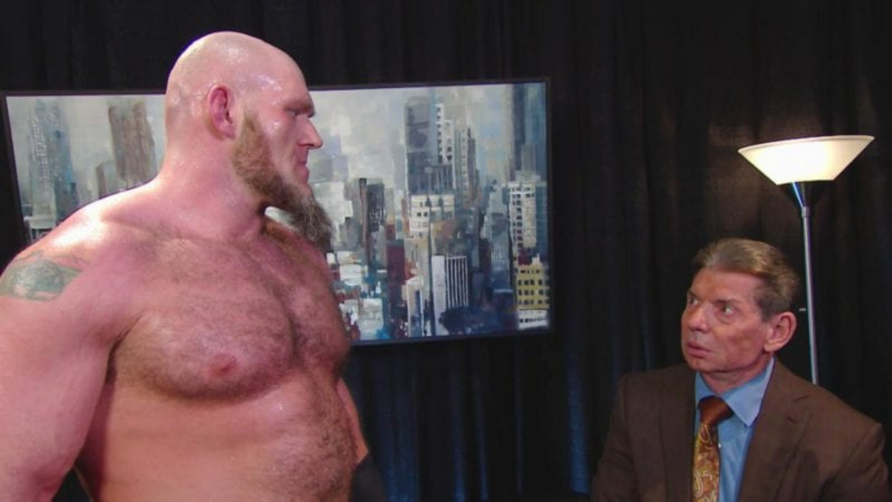 How did Vince McMahon react to Lars Sullivan's homoerotic past in the adult industry