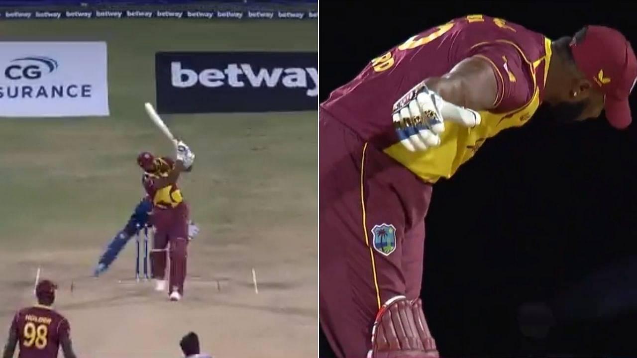 Pollard six sixes video: Kieron Pollard follows Akila Dananjaya's hat-trick with six sixes in Antigua T20I