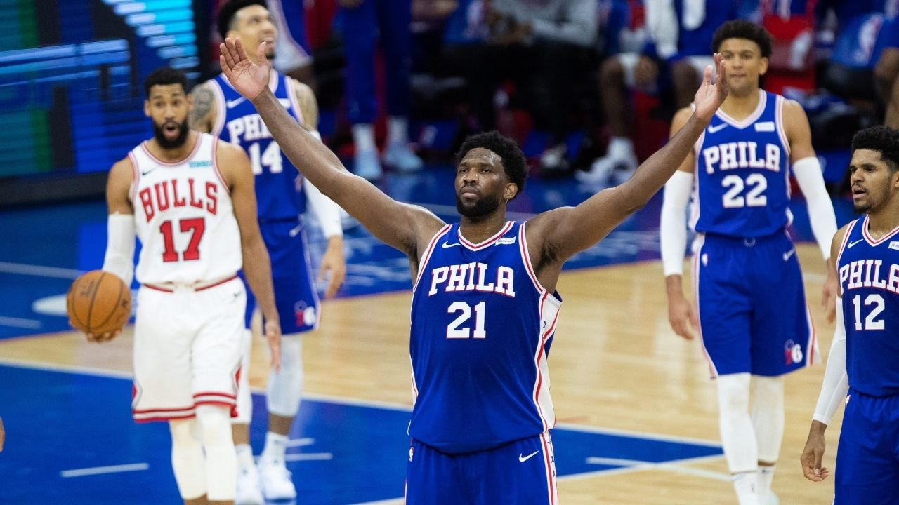 """""""That's it! Build around Tony Bradley!"""": Joel Embiid hilariously reacts to the short-handed Sixers unit beating the Bulls"""