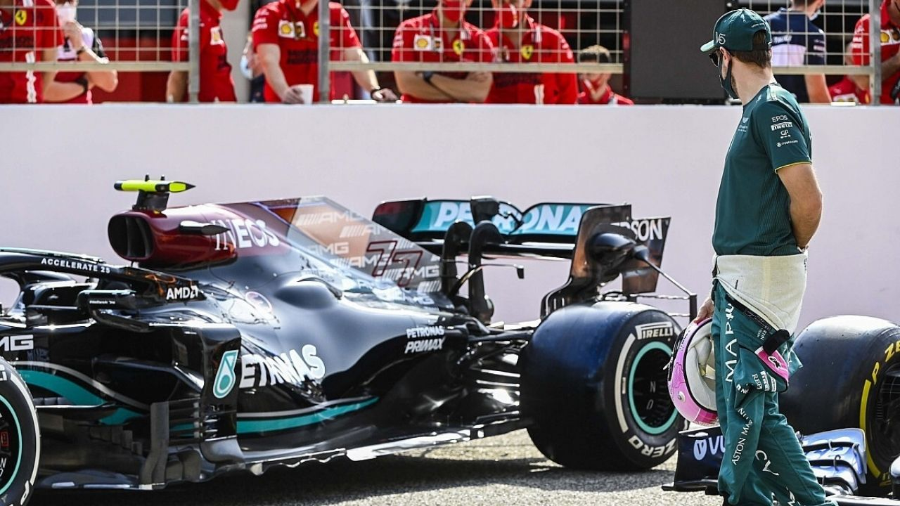 """""""I'm sure that they will be alright""""- Sebastian Vettel bets his money on Mercedes despite testing debacle"""