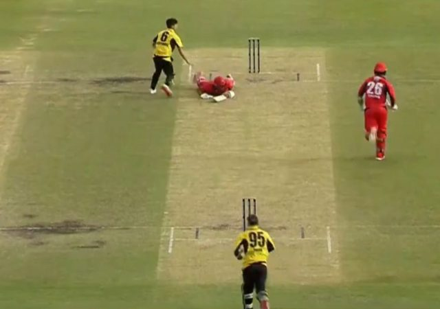 """Oh no"": Tom Cooper run-out in unfortunate manner in Western Australia vs South Australia Marsh Cup clash"