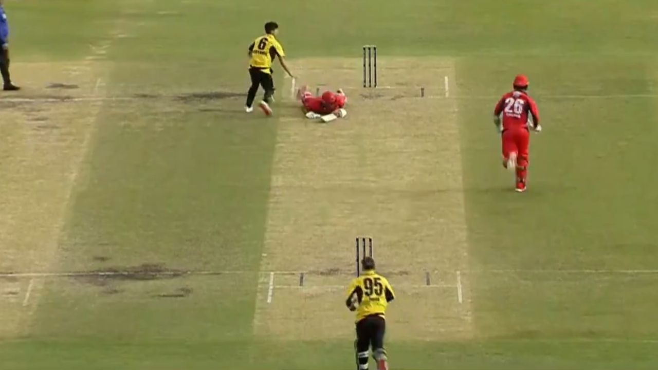 """Oh no"": Tom Cooper run-out in unfortunate manner in Western Australia vs South Australia Marsh Cup clash"