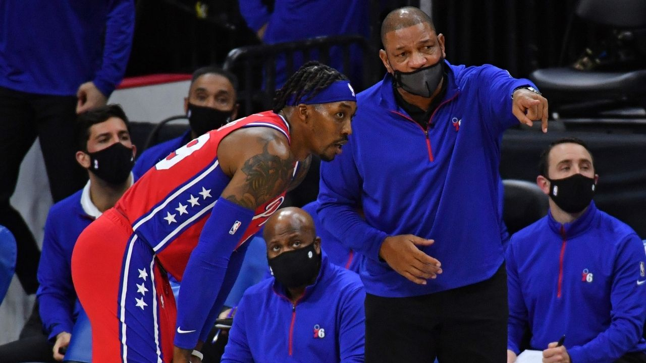 """""""After Dwight Howard, I'm probably the tallest guy on this team"""": Doc Rivers jokes about former Lakers center's ejection after Sixers' win at Staples Center"""