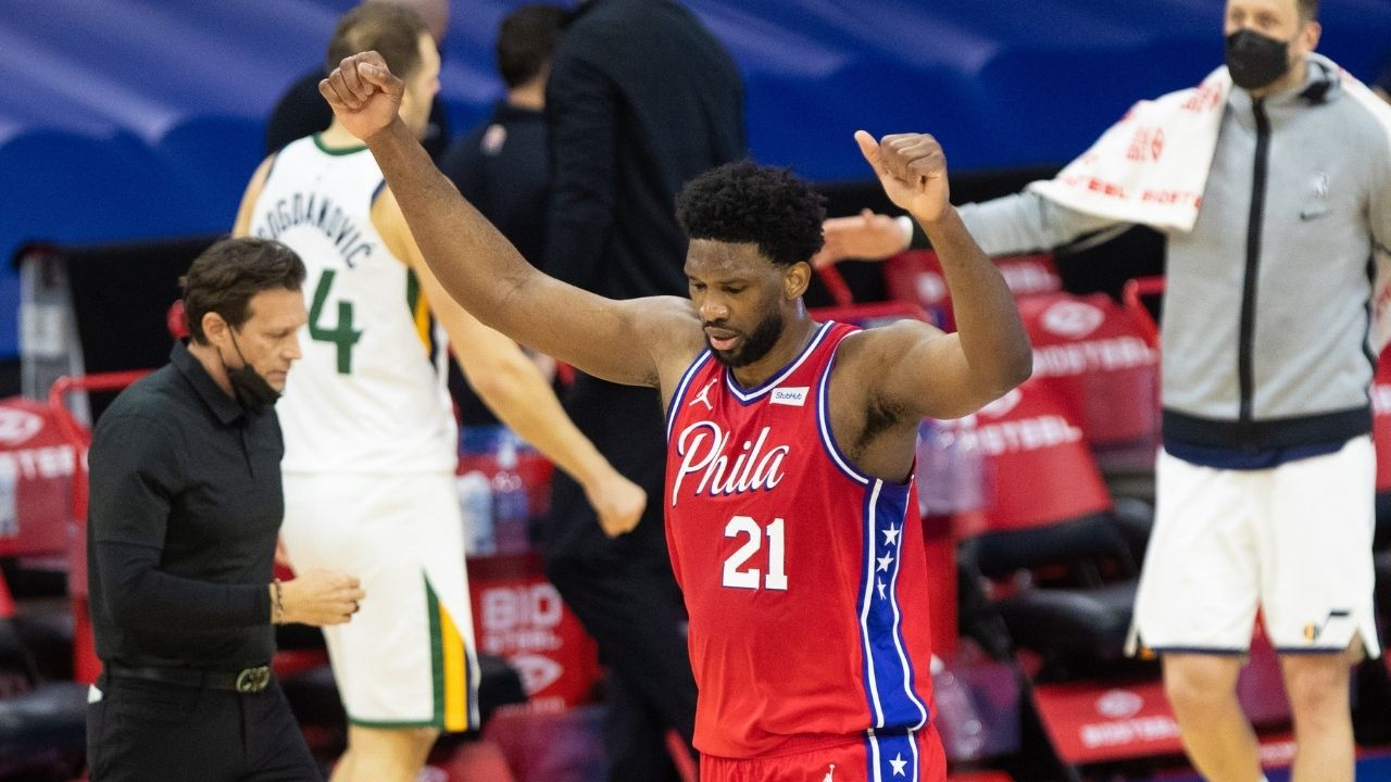 """I was very scared of Rudy Gobert, as you can see"": Joel Embiid silences critics with his impressive 40-19 performance, leading Sixers to an overtime win over the Jazz"