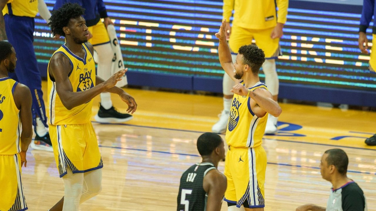 """Stephen Curry chips in with some encouragement for James Wiseman: """"I was searching for frat parties at Davidson when I was 19"""""""