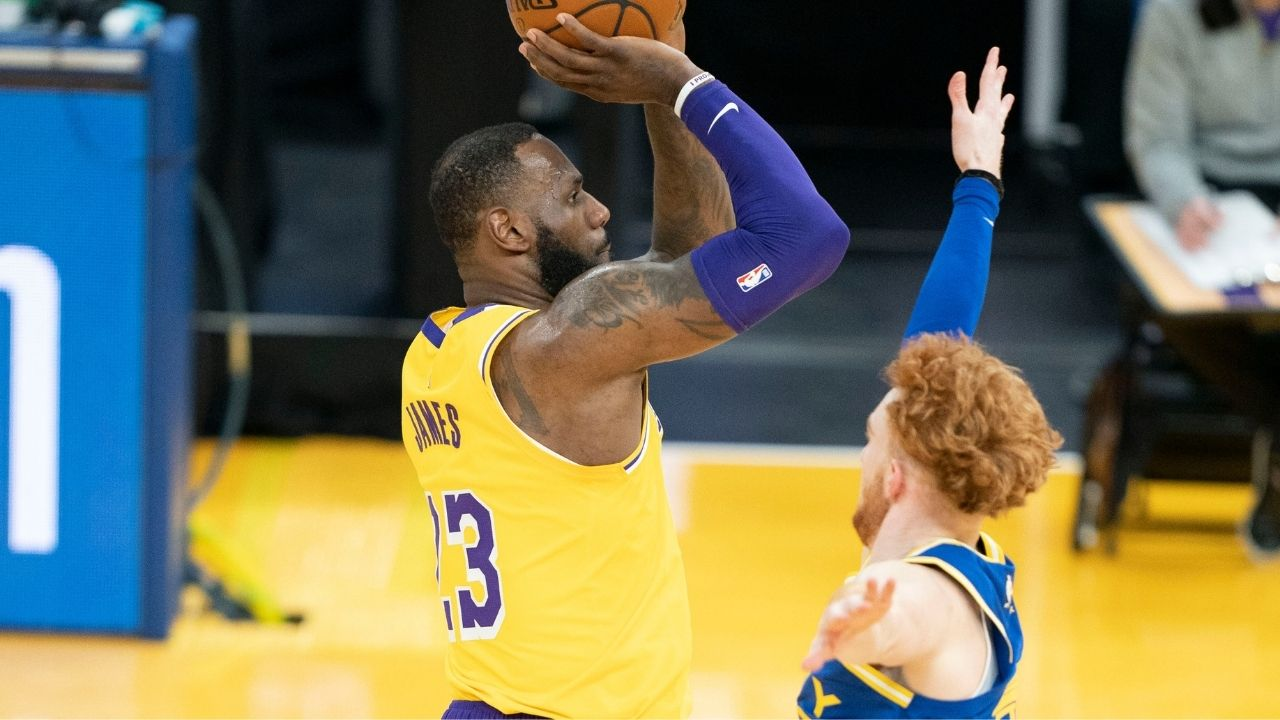 """LeBron James gave Nico Mannion his Welcome to the NBA moment"": Lakers superstar bullied the Warriors rookie with a brick-wall screen in their win"