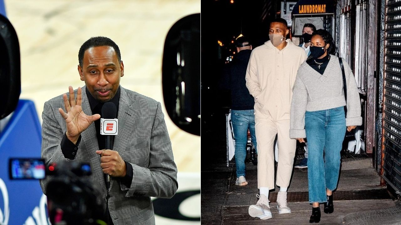 """Russell makes history and Stephen A Smith comes out with his non-congratulations"": Nina Westbrook rips apart ESPN hot take artist for his cold criticism of the Wizards star on a historic night"