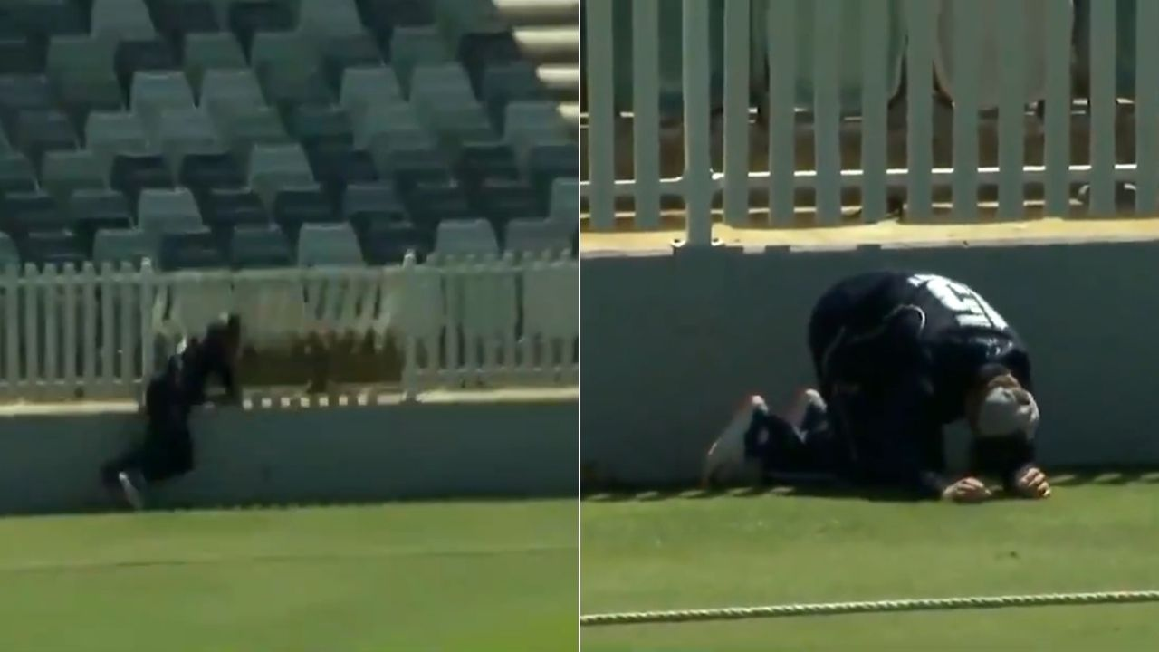 Mackenzie Harvey injury in Marsh One-Day Cup: Victorian batsman dangerously collides with fencing whilst saving boundary