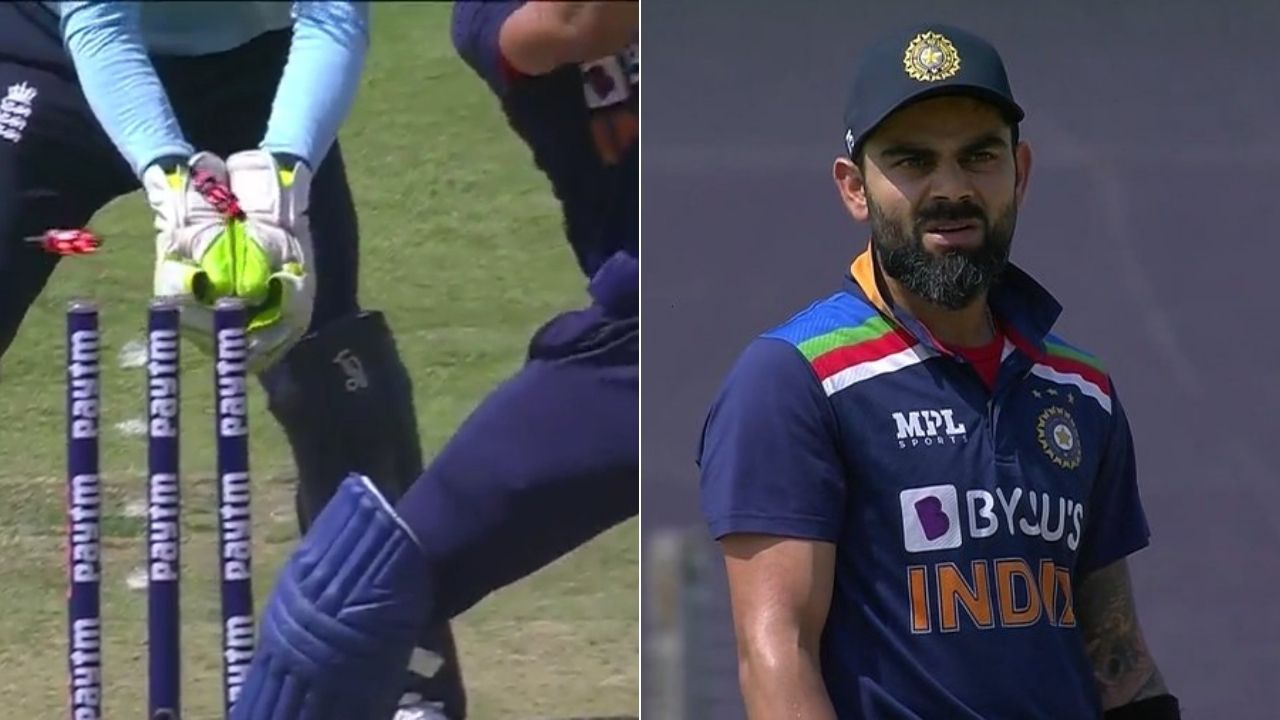 Kohli wicket today: Moeen Ali castles Virat Kohli in 3rd Pune ODI