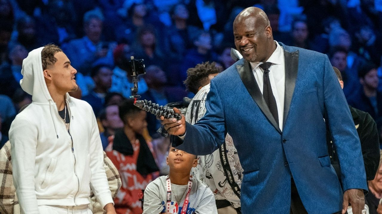 """No way, dad!"": Shareef O'Neal is amazed by Shaquille O'Neal's AEW pro wrestling debut appearance as the Lakers legend goes all out in the ring"