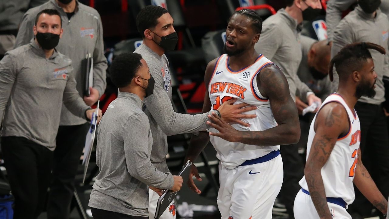 """""""Kyrie Irving blocked Julius Randle but the Nets got the ball back?"""" Damian Lillard was dumbfounded by Scott Foster's late-game call resulting in Knicks' loss"""