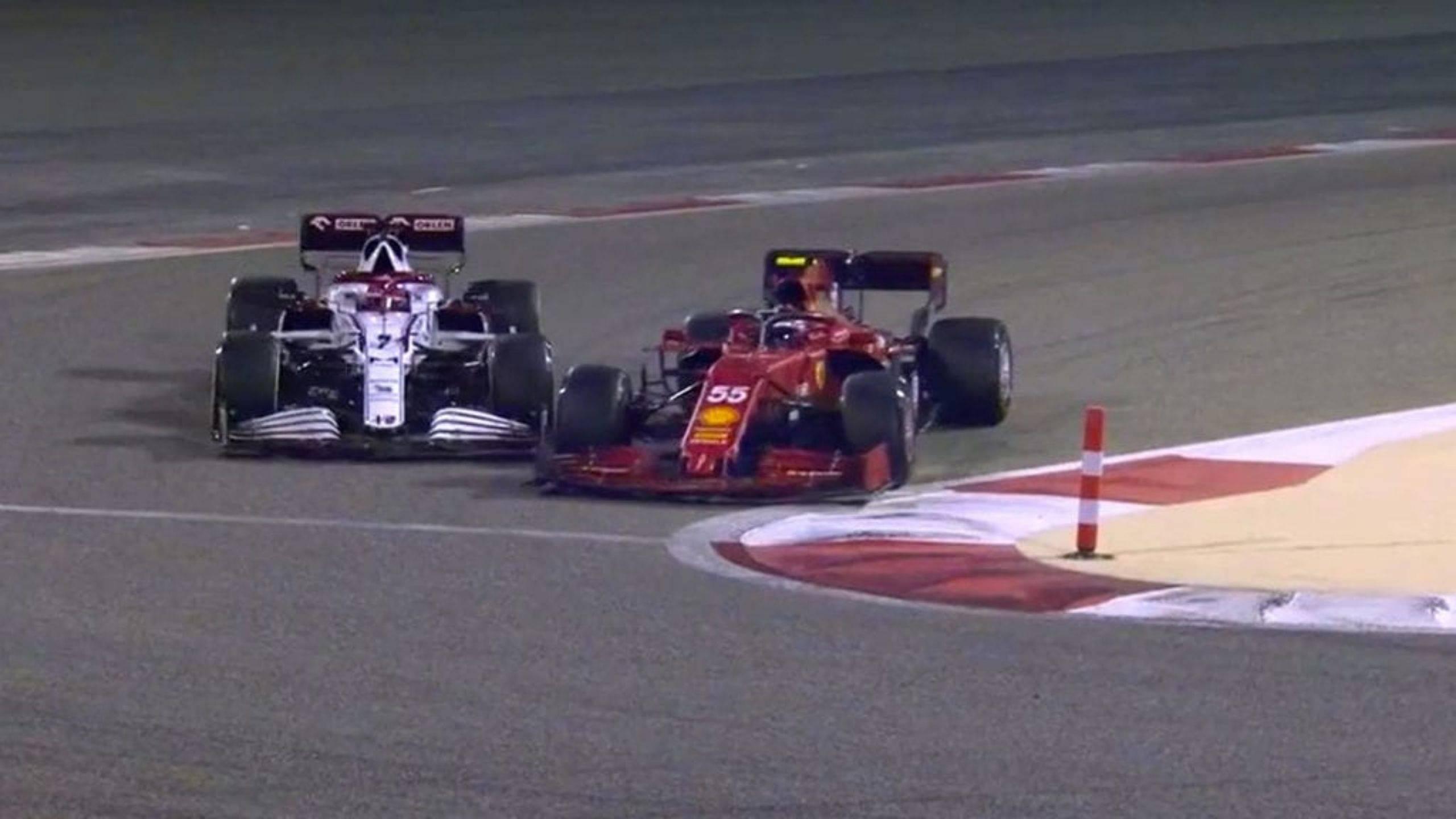 WATCH: Carlos Sainz collides into Kimi Raikkonen during Day 3 of pre-season testing in Bahrain
