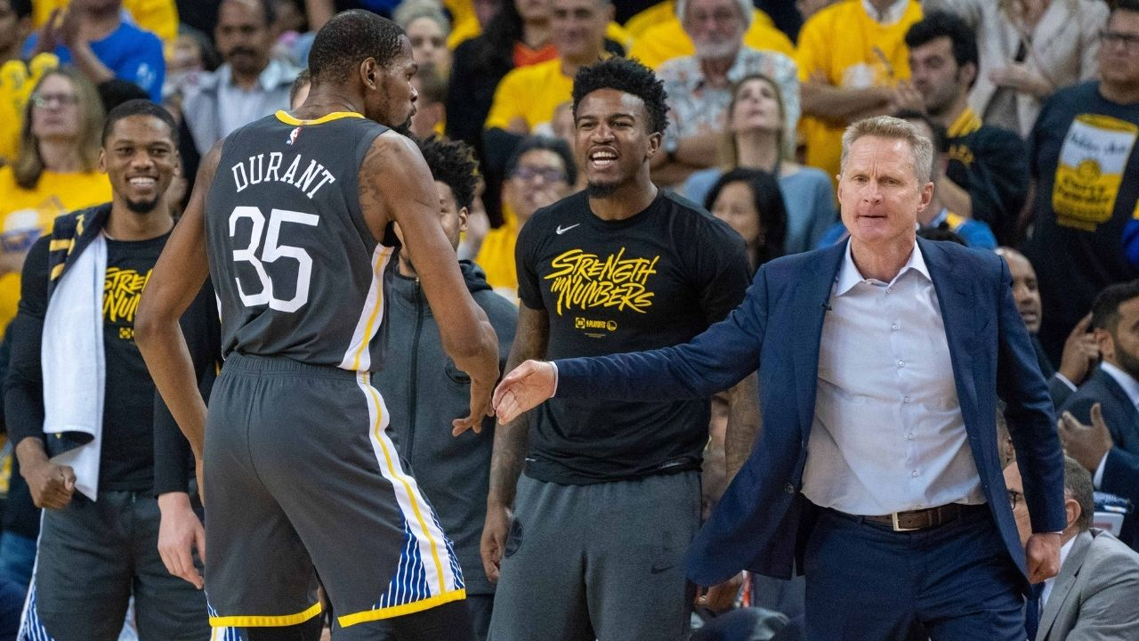 """""""Coaching Kevin Durant in the 18-19 season was tough, there was a lot going on"""": Steve Kerr explains why he enjoyed being Warriors head coach after KD left Steph Curry and co"""
