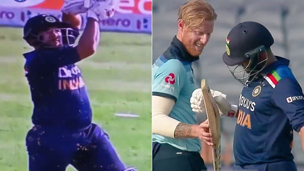 Shardul Thakur batting record: Ben Stokes hilariously checks Thakur's bat after getting hit for a six in Pune ODI