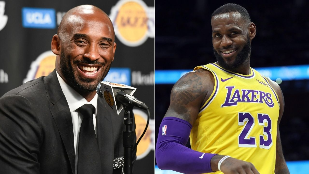 """""""Kobe Bryant's gift to LeBron James auctioned for $156,000"""": A pair of sneakers gifted by the Lakers legend to LBJ in high school have fetched a great price under the hammer"""