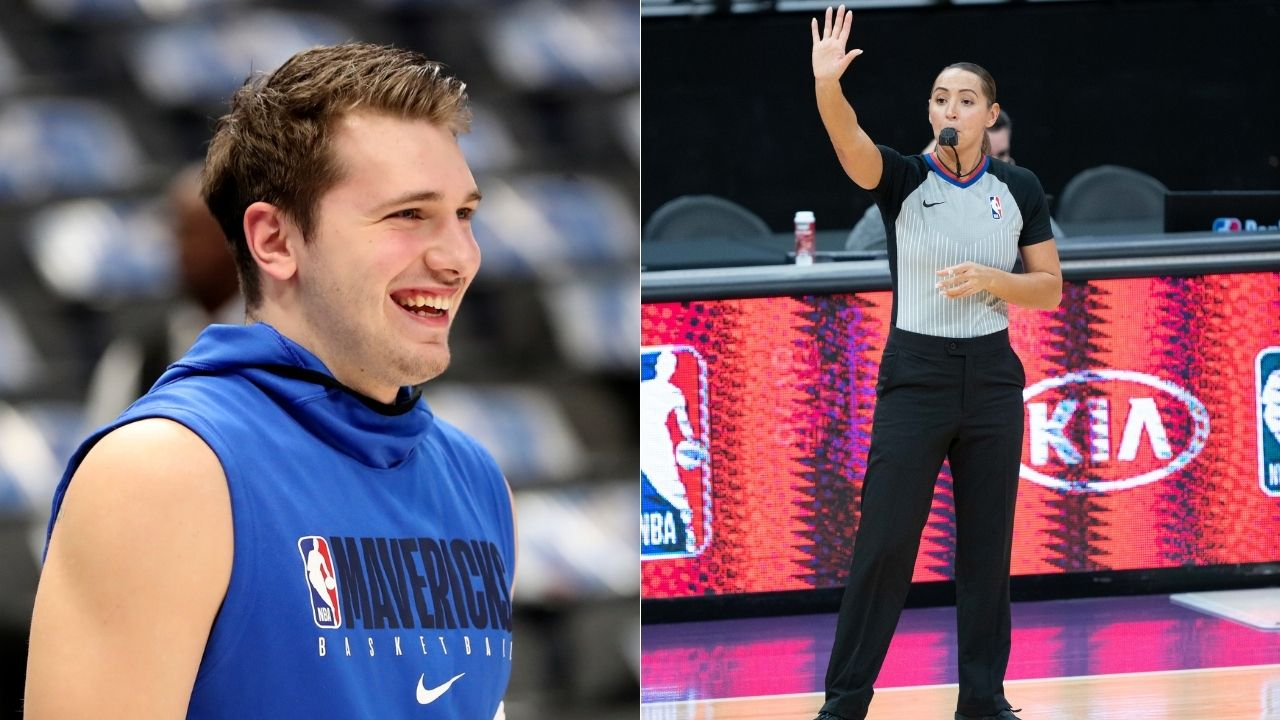 """Fouling in love with you"": Luka Doncic hilariously flirts with female referee Ashley Moyer-Gleich during Mavs' 105-89 win over Kawhi Leonard's Clippers"