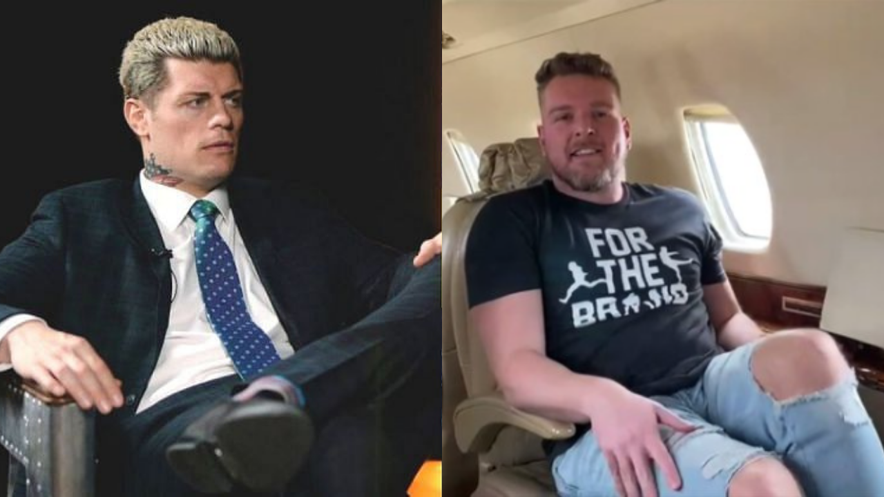 Pat McAfee reacts to Cody Rhodes' claim of him looking for a job at AEW