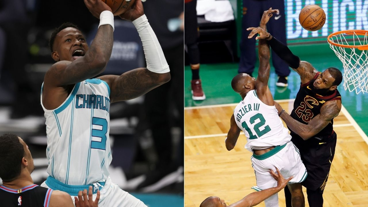 """LeBron James gives Terry Rozier a deja vu moment"": Lakers superstar hands the Hornets guard some 2018 flashbacks with an emphatic chase-down block"