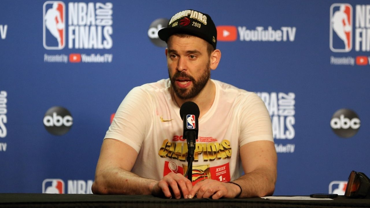 """""""I'm still very unathletic"""": Marc Gasol jokes about how his COVID infection did not affect him all too much ahead of the Lakers' win over Cavs last night"""