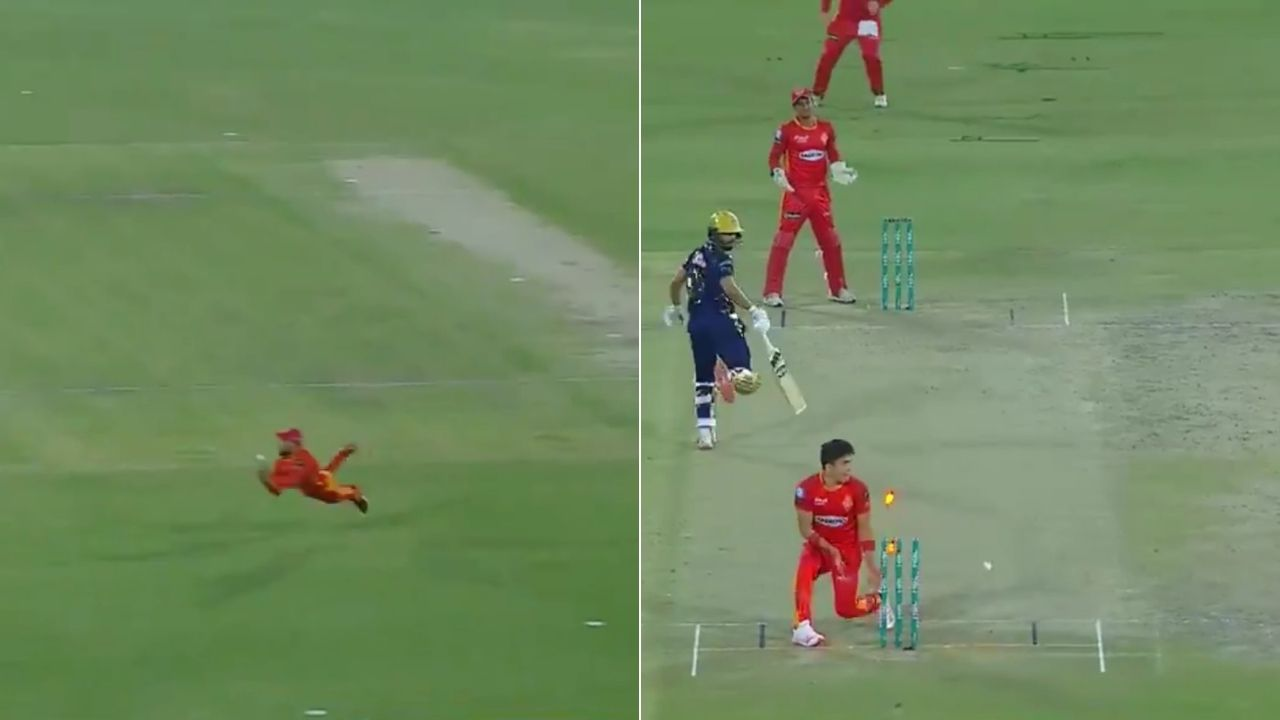 """You beauty"": Fans term Shadab Khan as best Pakistani fielder after his incredible effort to run-out Zahid Mahmood in PSL 2021"