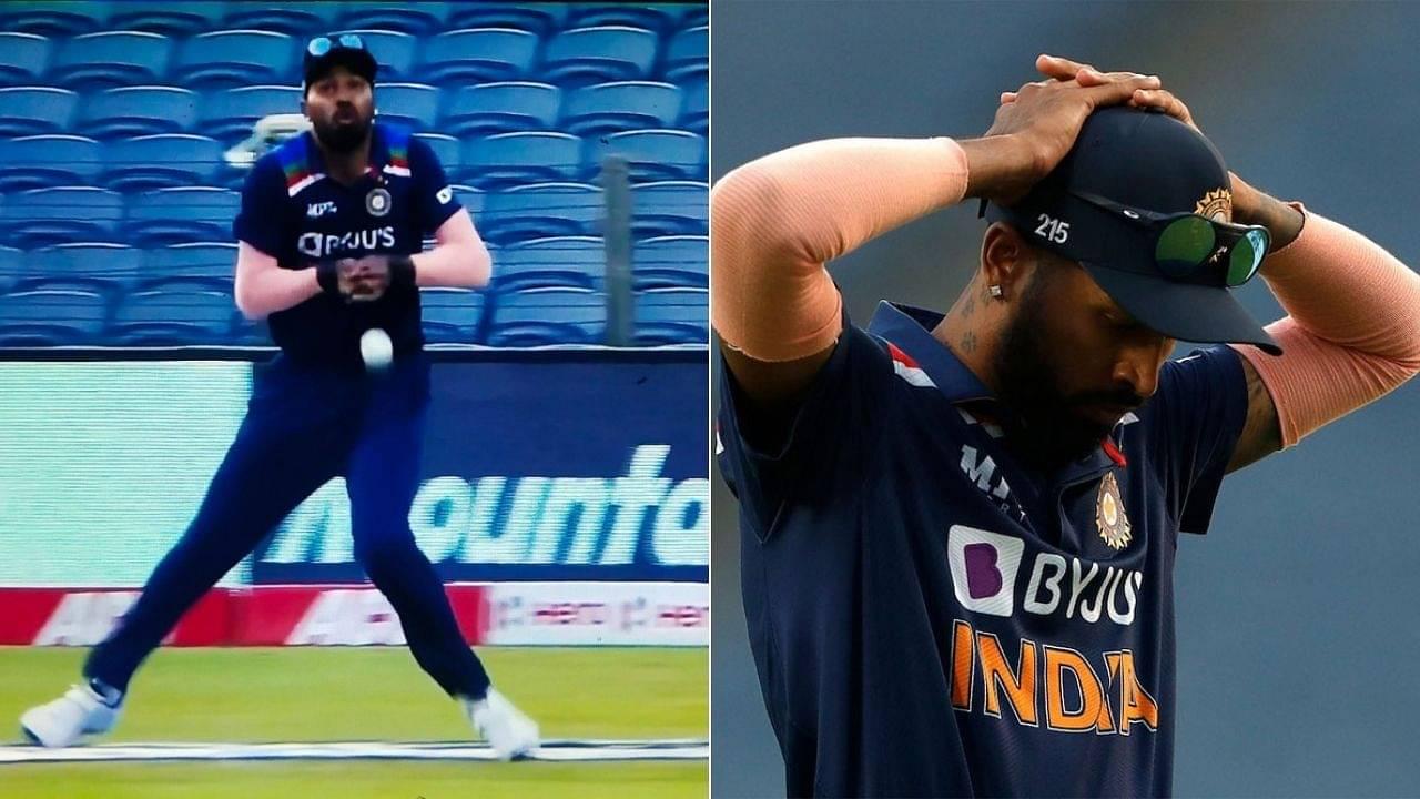 Hardik Pandya dropped catch today: Pandya drops Ben Stokes as England get massive reprieve in Pune ODI