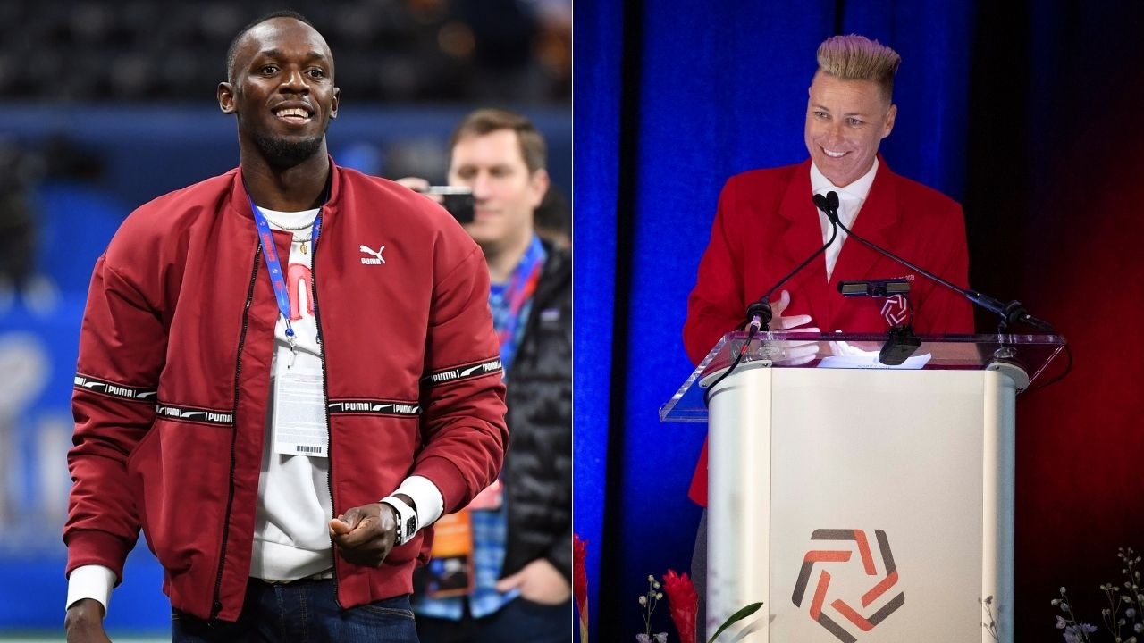 """""""Usain Bolt, anything you do I can do better"""": Abby Wambach challenges legendary Olympian in retro Gatorade ad featuring Michael Jordan and Mia Hamm"""
