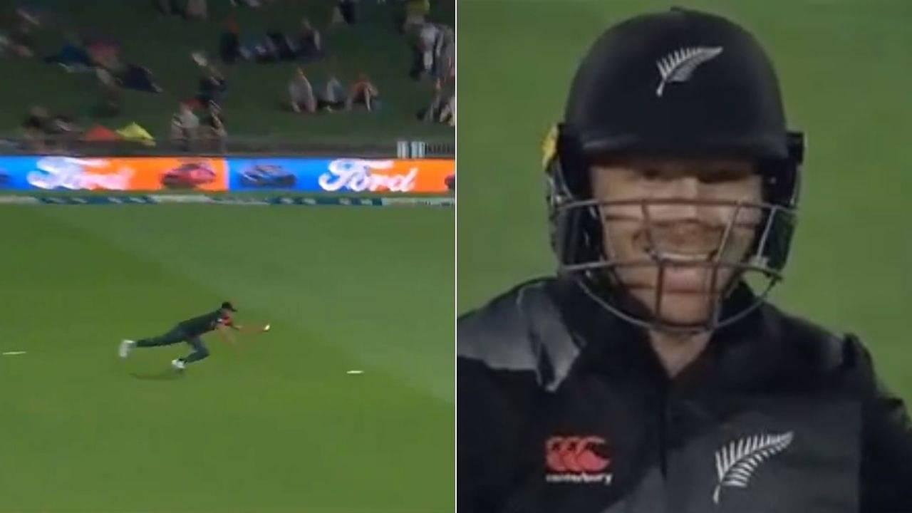 Taskin Ahmed catch vs NZ: Bangladeshi pacer grabs breathtaking catch to dismiss Martin Guptill in Napier T20I