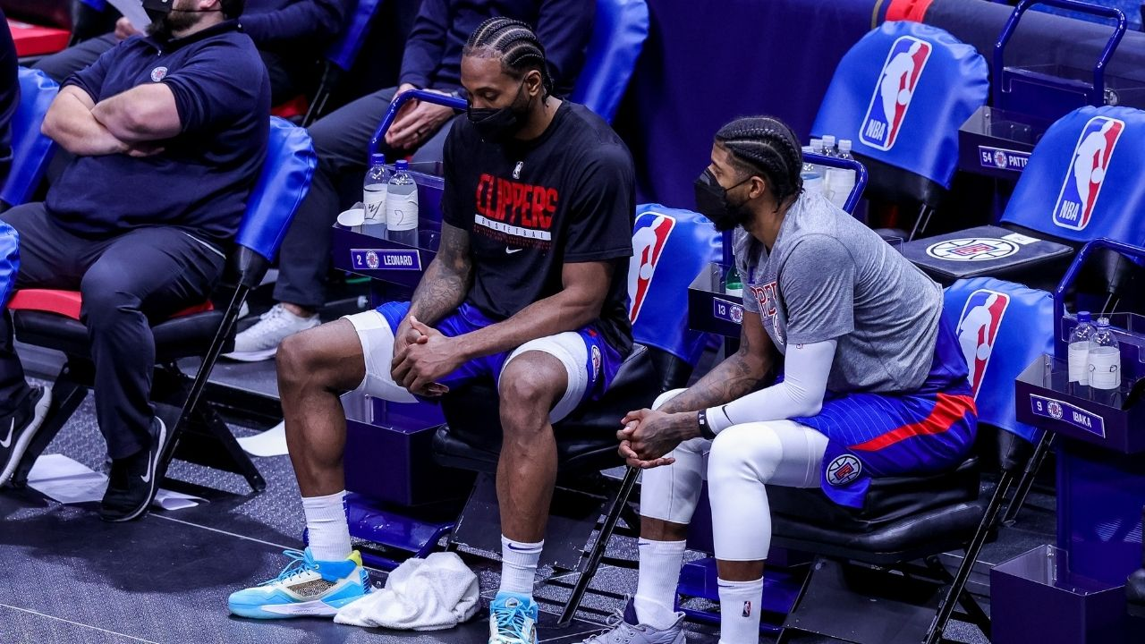 """Ask Kawhi Leonard when he's going to cut his s***"": Paul George jokes about when he's getting a haircut by comparing his locks with those of Clippers teammate Kawhi"