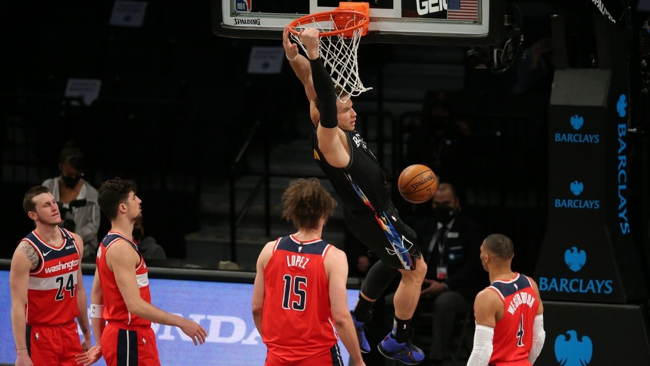 Blake Griffin Doesnt Dunk Anymore Nets Twitter Explodes As Blake Hits Back With A Dunk In His First Game Playing With James Harden Kyrie Irving And Co The Sportsrush