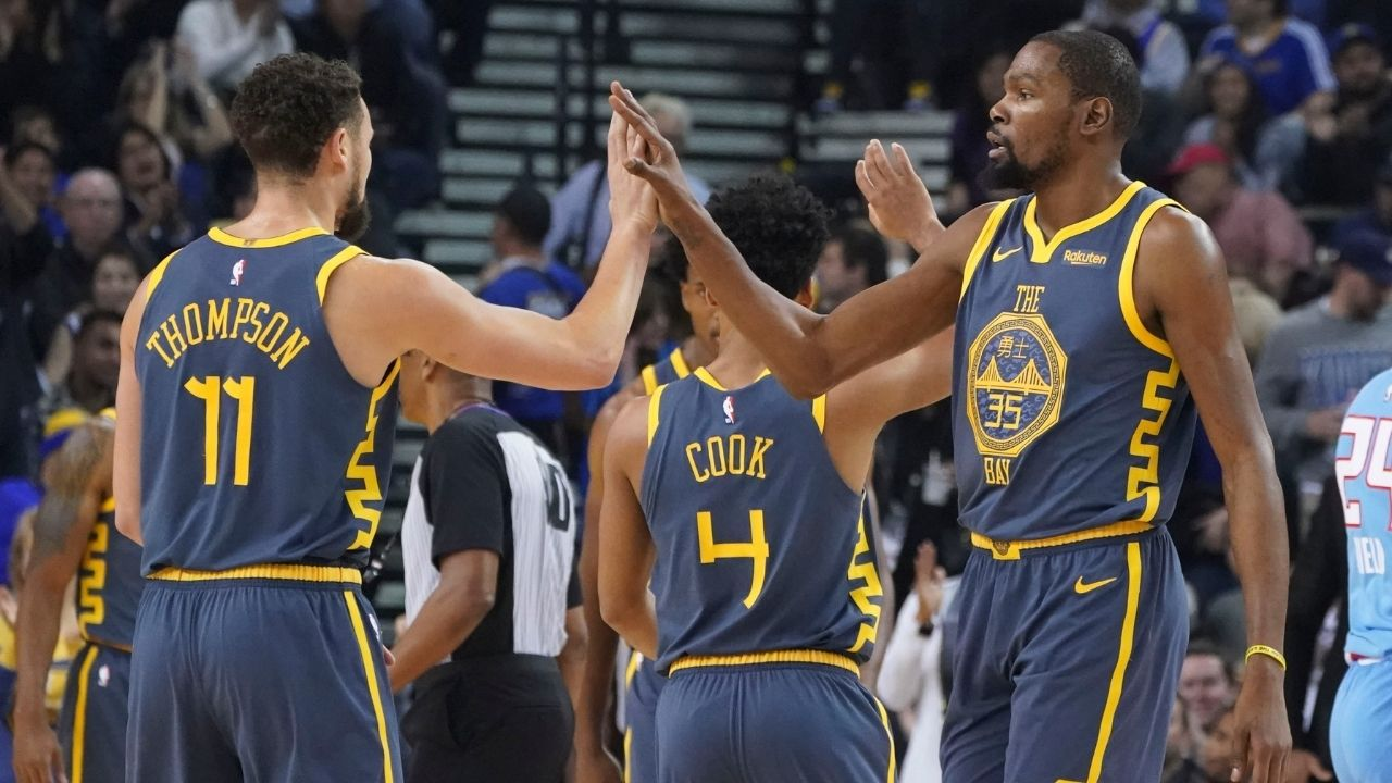"""""""Kevin Durant, I can't make a jump shot with you on 2K"""": Klay Thompson roasts himself and his former Warriors teammate for their Achilles injury recoveries"""