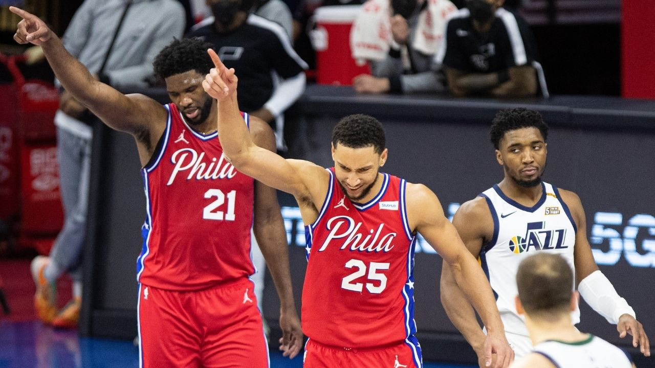 """""""Donovan Mitchell deserves a technical"""": Joel Embiid hilariously lobbied with refereeing crew to hand the Jazz All-Star a technical foul in Sixers win"""