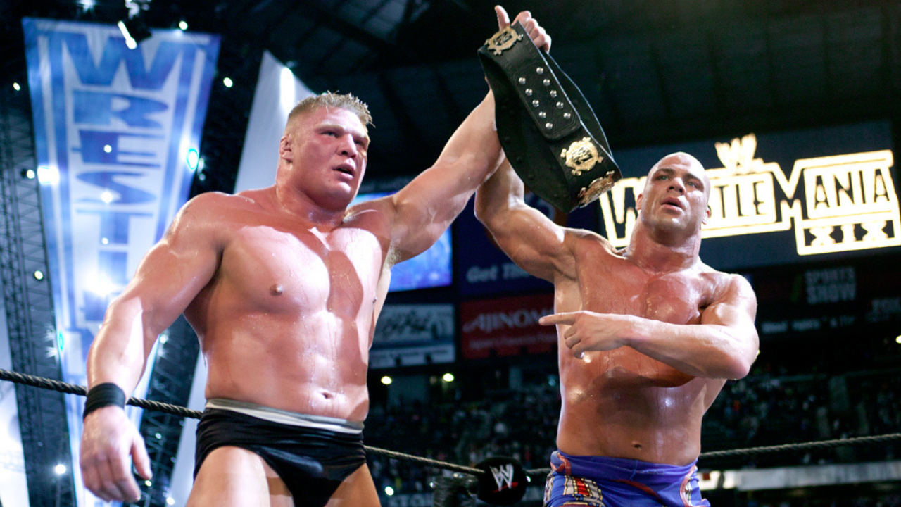 JR suggests Kurt Angle influenced Brock Lesnar into leaving WWE in 2004