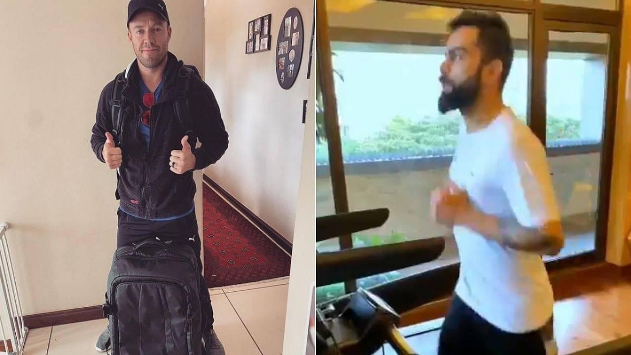"""Loving the form"": RCB's AB de Villiers appreciates Virat Kohli's training video ahead of reaching India for IPL 2021"