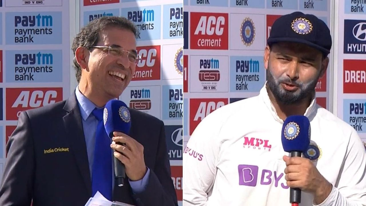 """Aap improve karo"": Rishabh Pant jokes with Harsha Bhogle over stump mic commentary in England series"