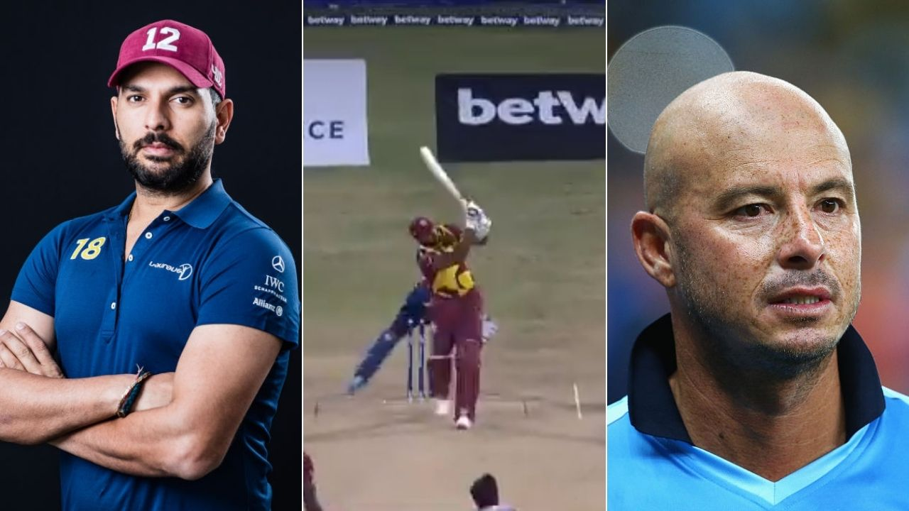 """Welcome to the club"": Yuvraj Singh and Herschelle Gibbs react after Kieron Pollard hits six sixes off Akila Dananjaya"