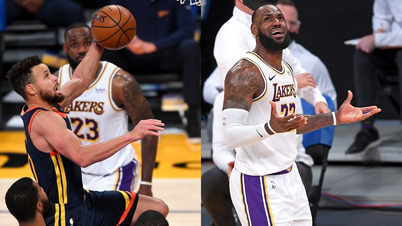 'LeBron James showed love to his father Steph Curry': Lakers star pauses interview to dap up with Curry after blowout win vs Warriors