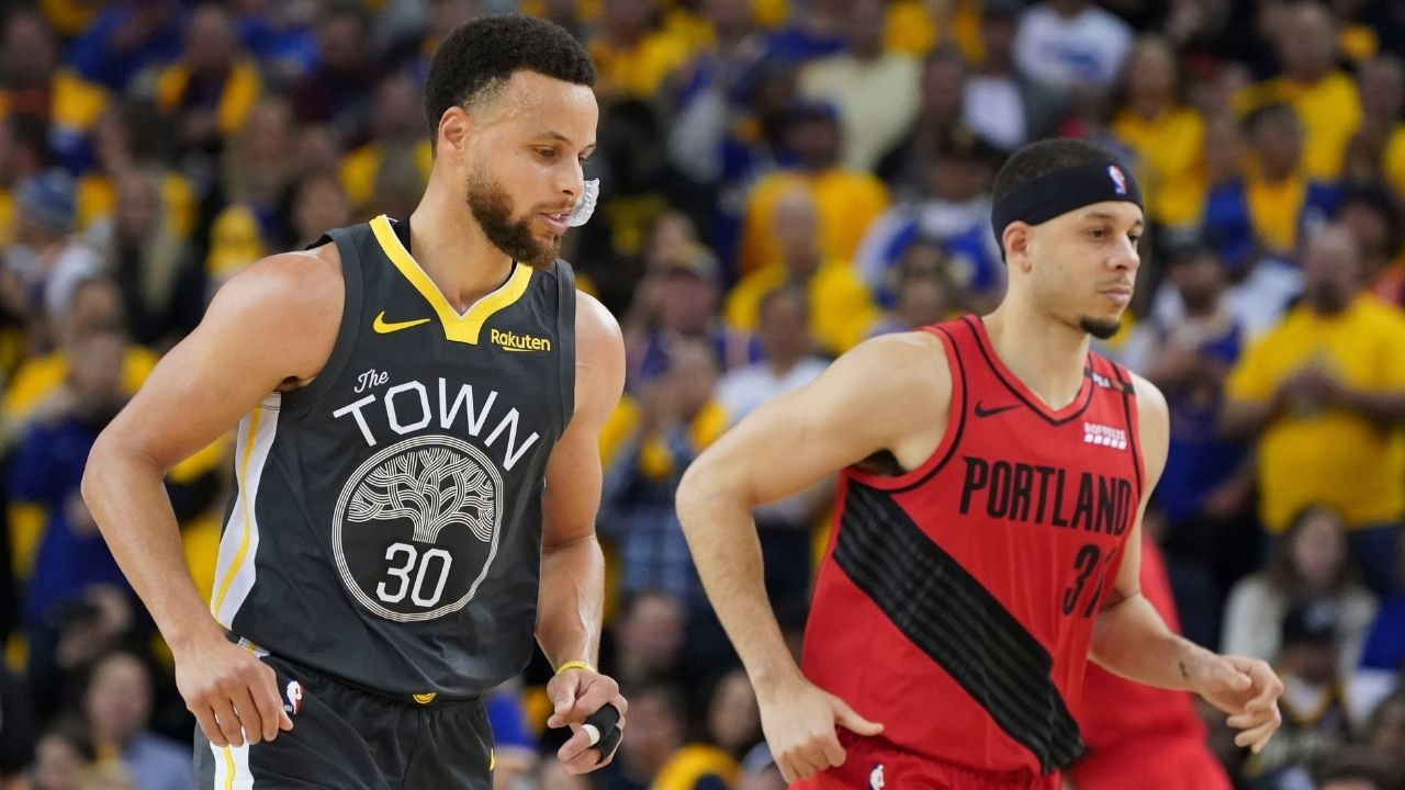 """""""He probably wouldn't be a good GM if he thinks that."""": Stephen Curry responds to Baron Davis' statement on the 'We-Believe' Warriors against the KD-era Warriors"""