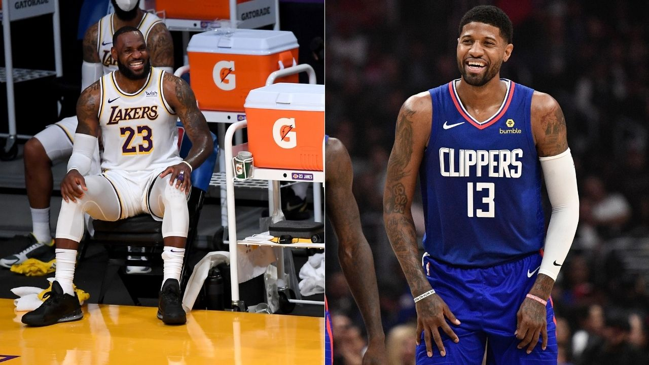 """Paul George and the Clippers are the enemy"": LeBron James jokingly takes jabs at Clippers star while picking him to join Team LeBron"
