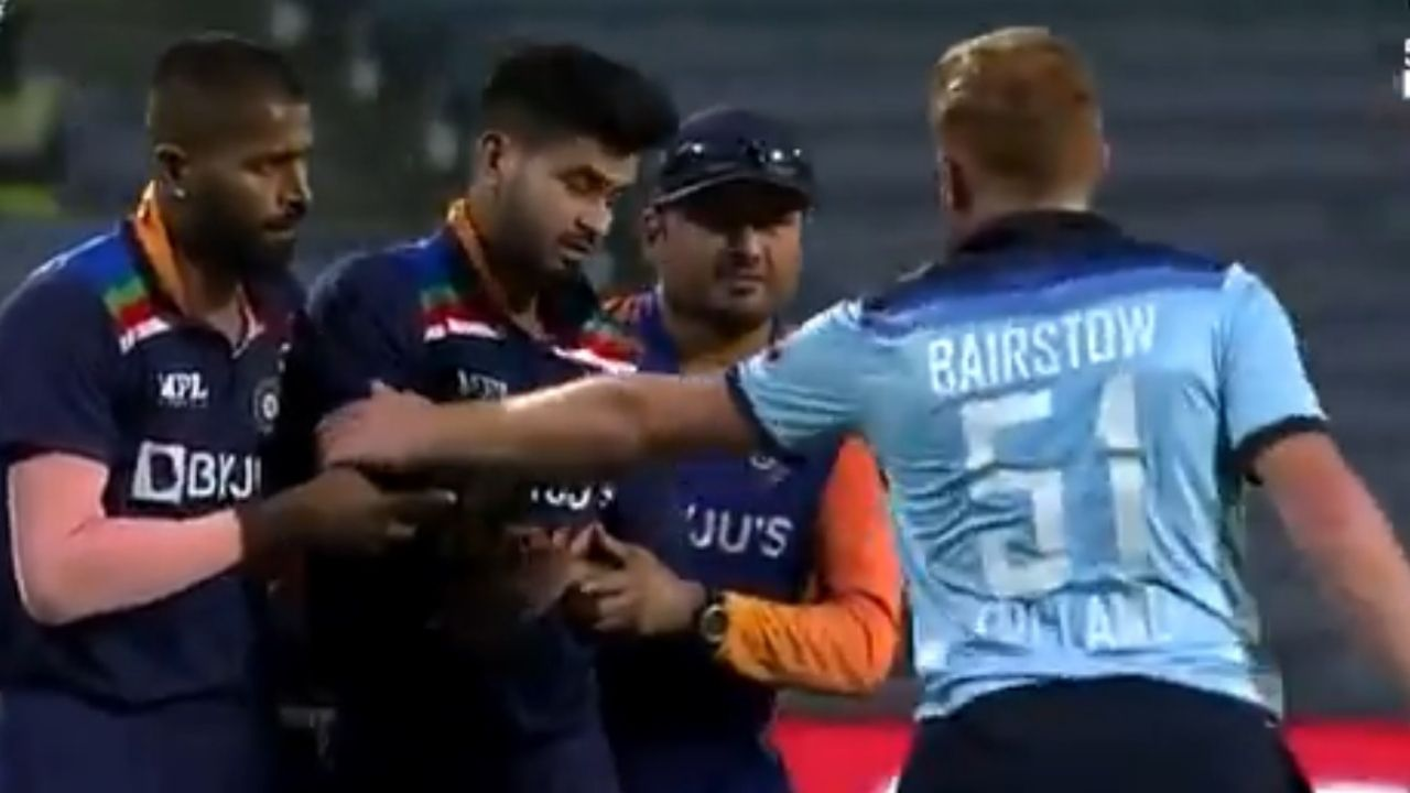 Shreyas Iyer injury: Jonny Bairstow checks on Iyer as Indian physio carries him off the field in Pune ODI