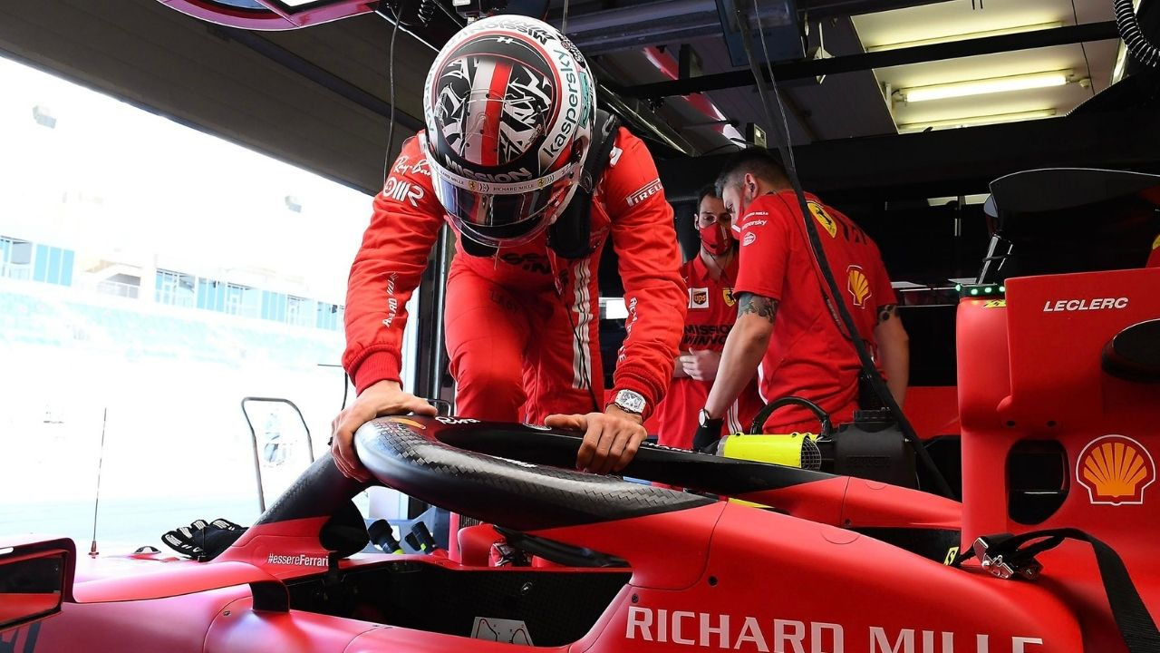 """""""I'm at ease with the car""""- Charles Leclerc on Ferrari's SF21"""