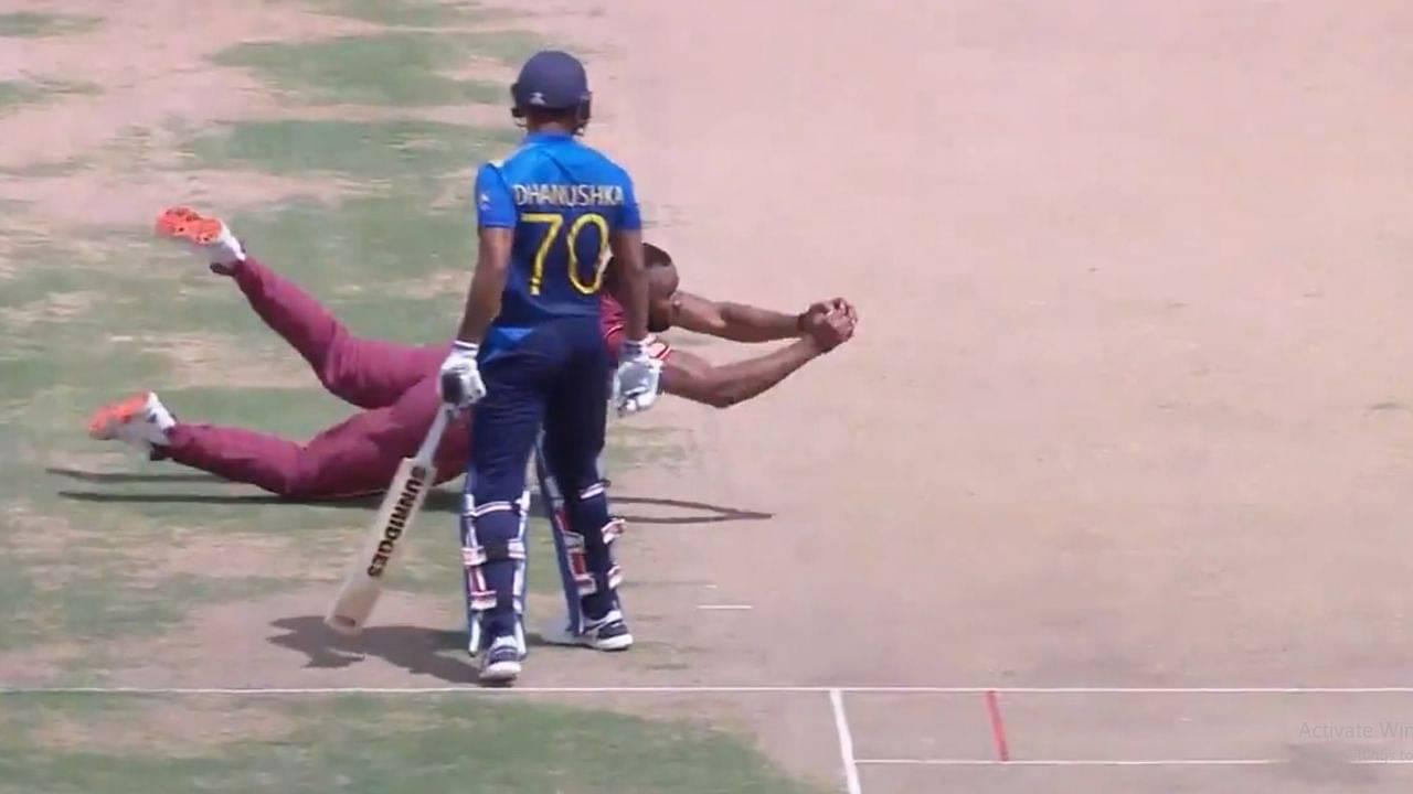 Kieron Pollard catch vs Sri Lanka: West Indian captain grabs first-rate return catch to dismiss counterpart Dimuth Karunaratne
