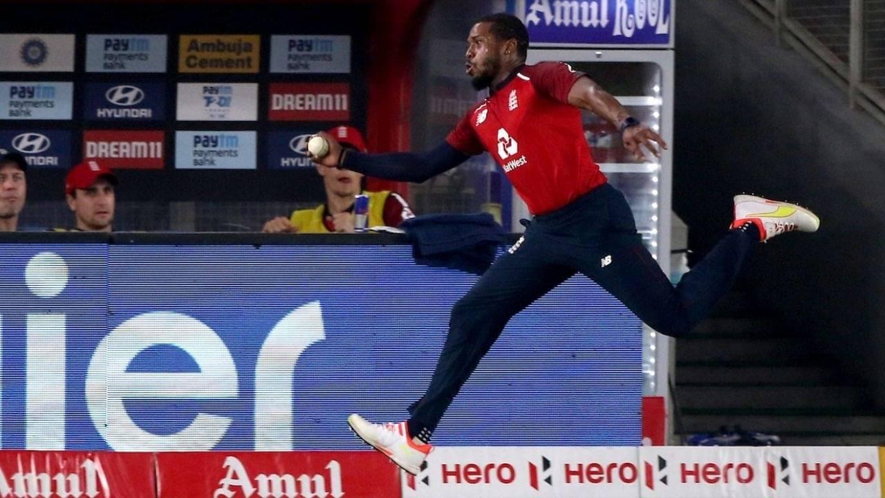 Chris Jordan catch to dismiss Suryakumar Yadav: Fans awestruck by Jordan's mind-blowing fielding effort in Ahmedabad T20I