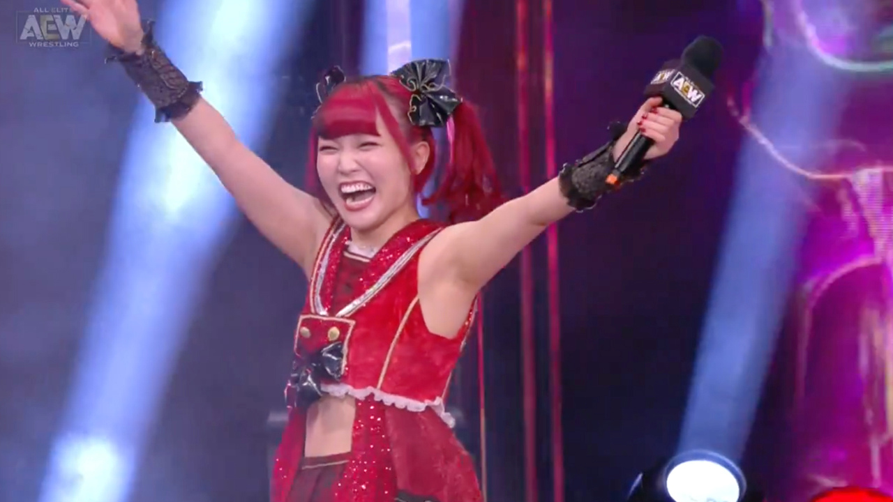 Maki Itoh makes surprise appearance at AEW Revolution