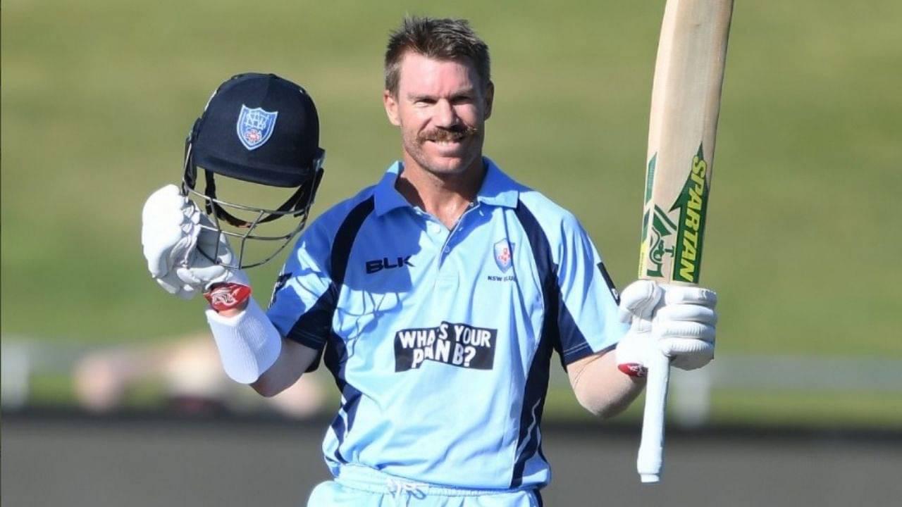 """Doing what he does best"": SRH laud David Warner's Marsh Cup century vs Tasmania"