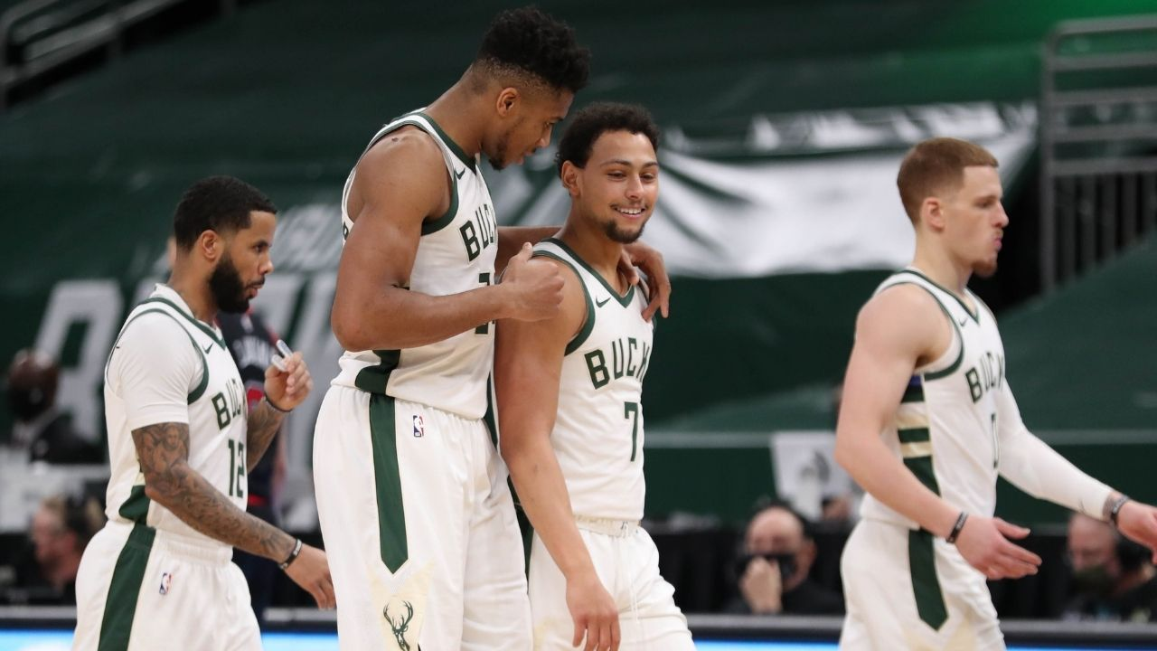 """Bryn Forbes? No, I'm the best shooter I've played with"": Giannis Antetokounmpo jokes about his new Bucks teammate after win over the Knicks"